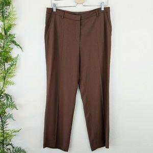NWT Escada Pants Wide Leg Loose Trousers Brown M
